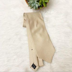 """Gucci Mens Silk Necktie  Solid Logo  """"G"""" Ivory"""